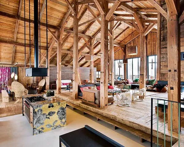Traditional Alps Chalet With A Colorful Interior DigsDigs