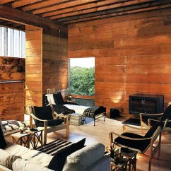Wood Wall Units For Living Room Light Brown Leather Furniture Rough Tree House By Bates Masi - Digsdigs