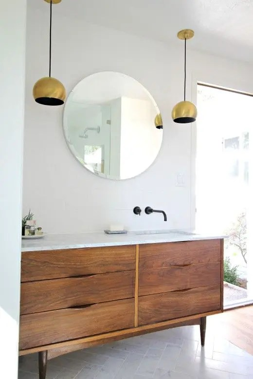 refinish kitchen sink professional faucets 35 trendy mid-century modern bathrooms to get inspired ...