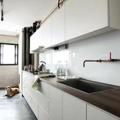 Single Sink Kitchen Workbench 28 Trendy Minimalist Solid Glass Backsplashes ...