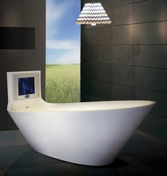 5 Cool Bathtubs with BuiltIn TVs  DigsDigs