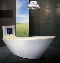 5 Cool Bathtubs with Built-In TVs - DigsDigs