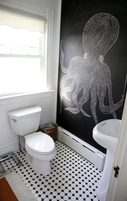21 Unconventional Chalkboard Bathroom Dcor Ideas  DigsDigs