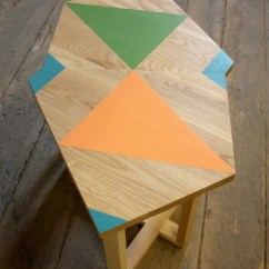 Rustic Country Kitchen Decor Aide Unusual Wooden Furniture With Bright Geometric Patterns ...