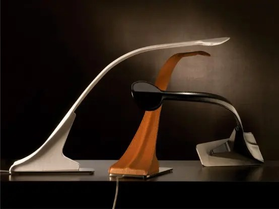 Unusually Shaped Tabletop Loop Lamp Variations
