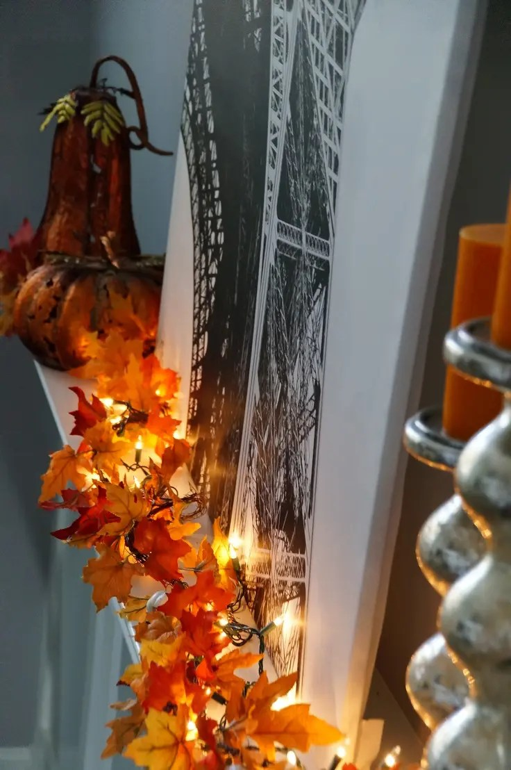 kitchen table with leaf pantry closet 30 cool ways to use autumn leaves for fall home décor ...