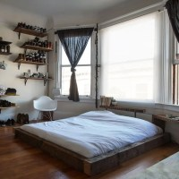 Well-Organized Masculine Bedroom Combined With A Closet ...