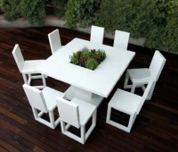 Garden Furniture Made With Matte White Lacquered Aluminum ...
