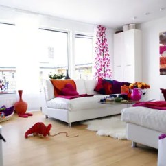 Orange Living Room Designs Ideas To Decorate A Long Wall 111 Bright And Colorful Design Digsdigs White With Pink Accents