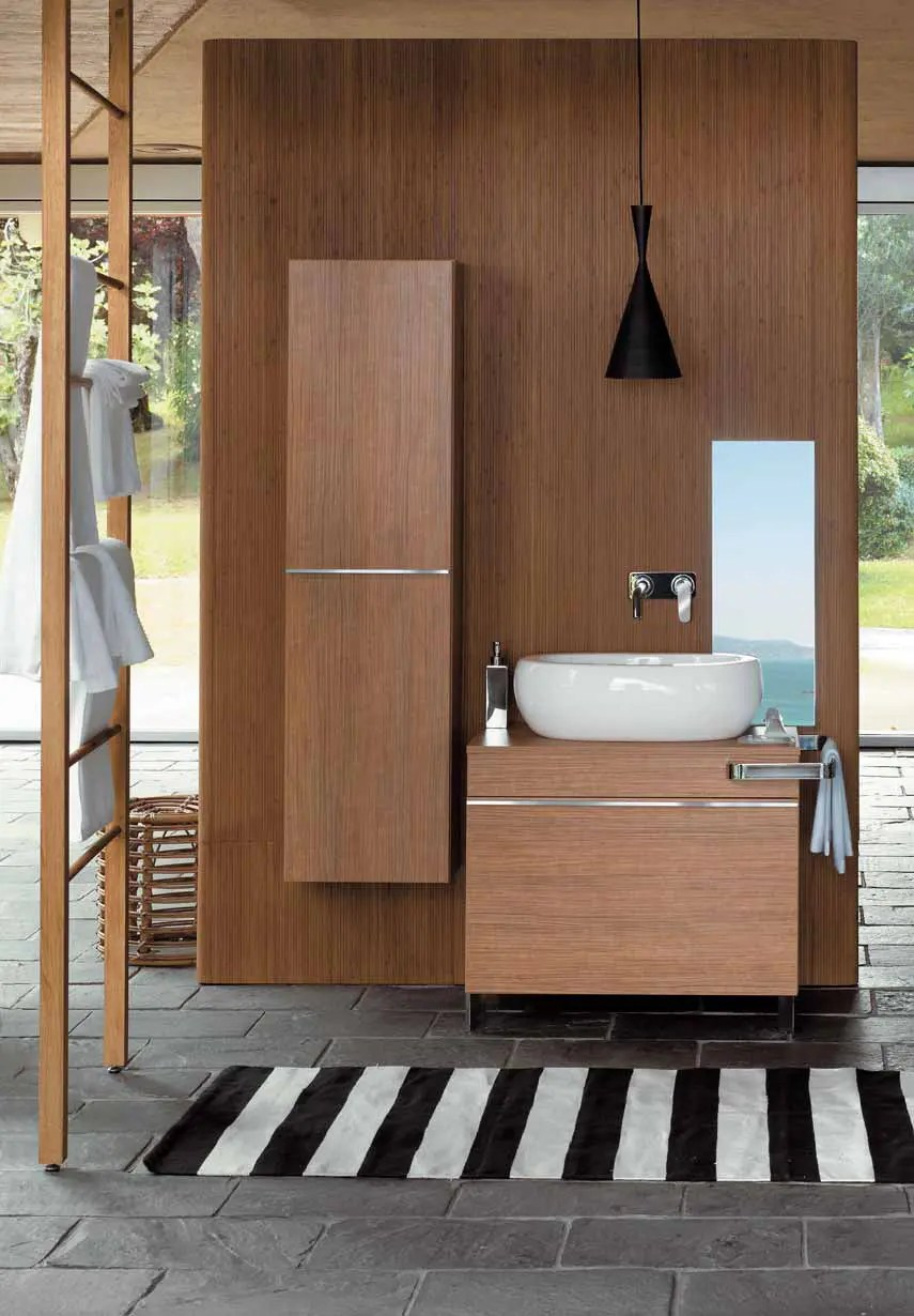 Wooden Bathroom Cabinets and Oval Sanitary Ceramics  Egg