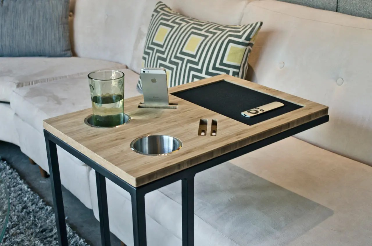 how to make a sofa table top sofascore create account your sofas best friend caddy digsdigs