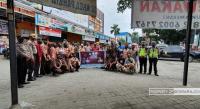 KNPI Sumut Bersama Relawan Kamtibmas Bagi Masker