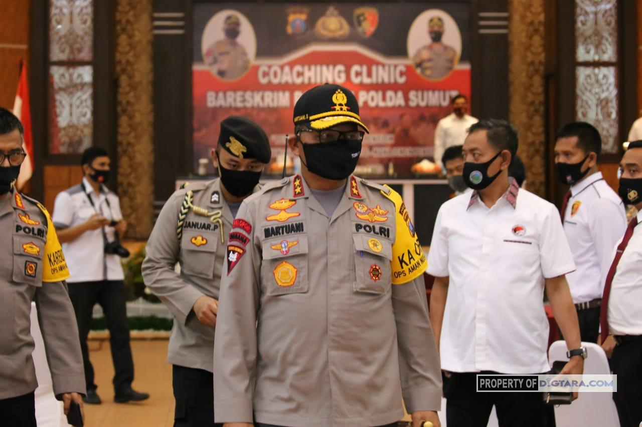 Kapold Buka Coaching Clinic Bareskrim Polri di Polda Sumut