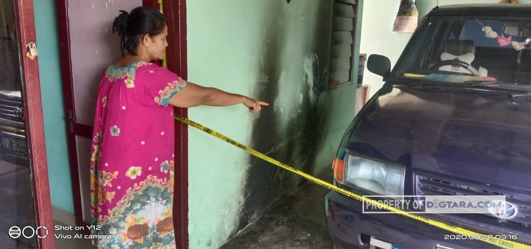 Pagi Pagi, Rumah Warga di Tebing Tinggi Dilempar Bom Molotov