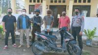 Tersangka Pencurian Sepeda Motor Ditangkap Saat Mabuk Miras