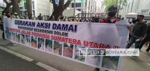Jalan Tak Kunjung Diperbaiki, Masyarakat Dolok Madina Geruduk Kantor DPRD Sumut