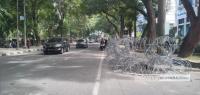 Massa Aksi Hari Kedua ke DPRD Sumut, Arus Lalu Lintas Masih Lancar
