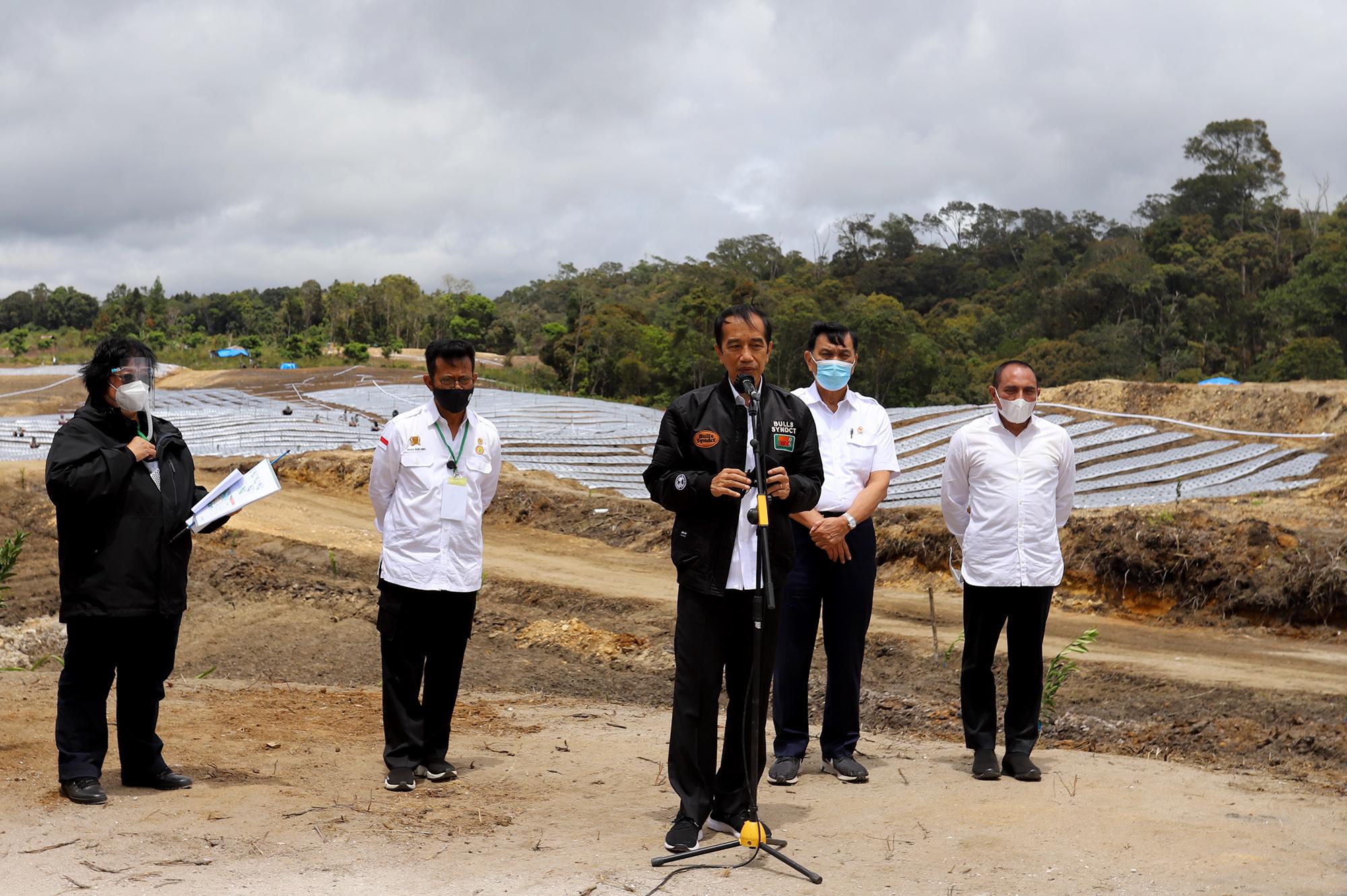 Tinjau di Humbahas, Presiden Jokowi Sebut30.000 Hektare untukKawasan Lumbung Pangan