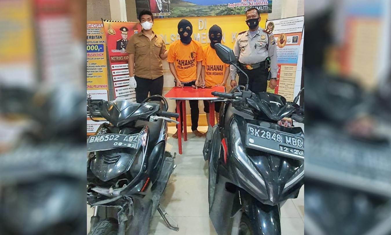Curi Sepeda Motor Didepan Mini Market, Dua Remaja Diringkus Polisi