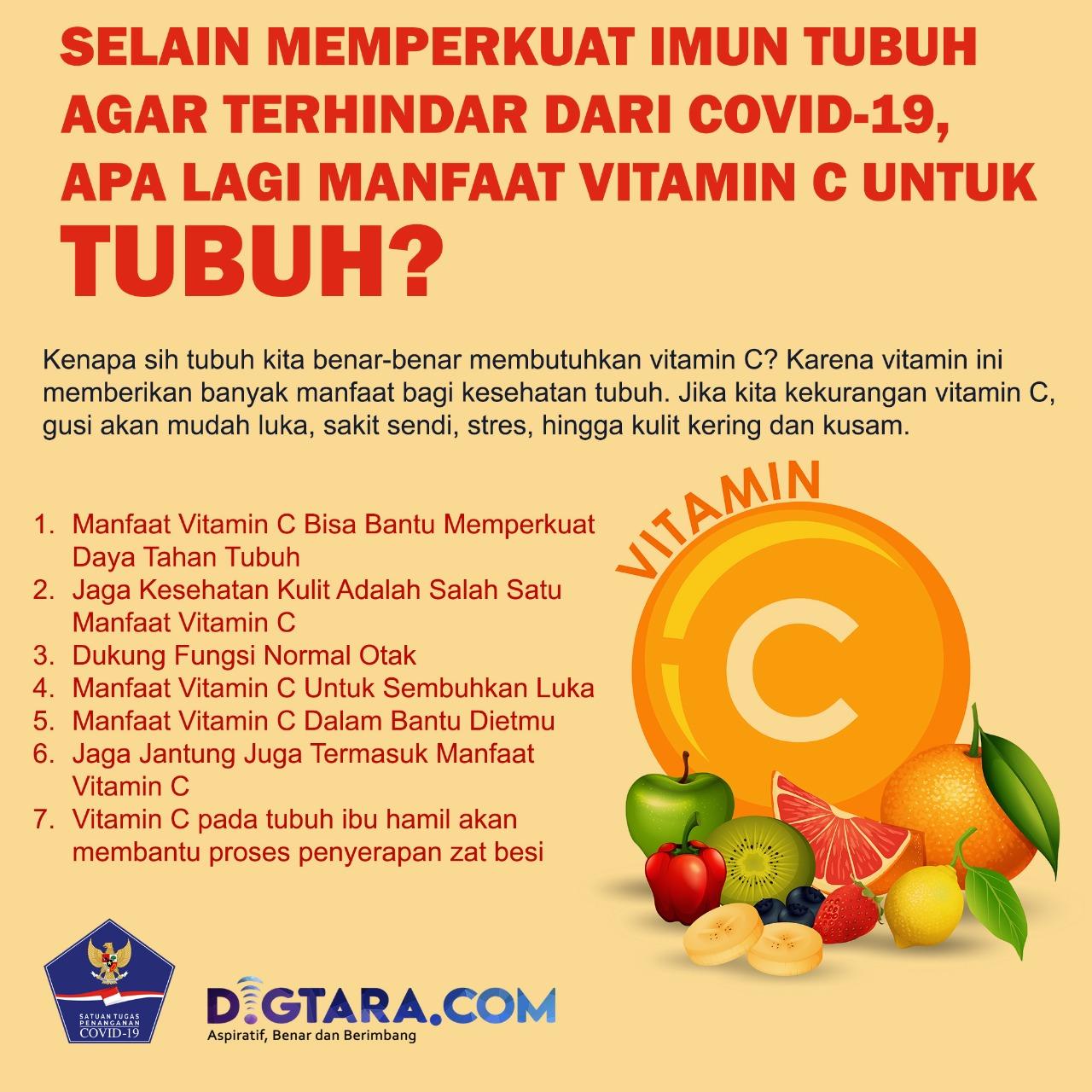 Infografis: Manfaat Vitamin C untuk Tubuh