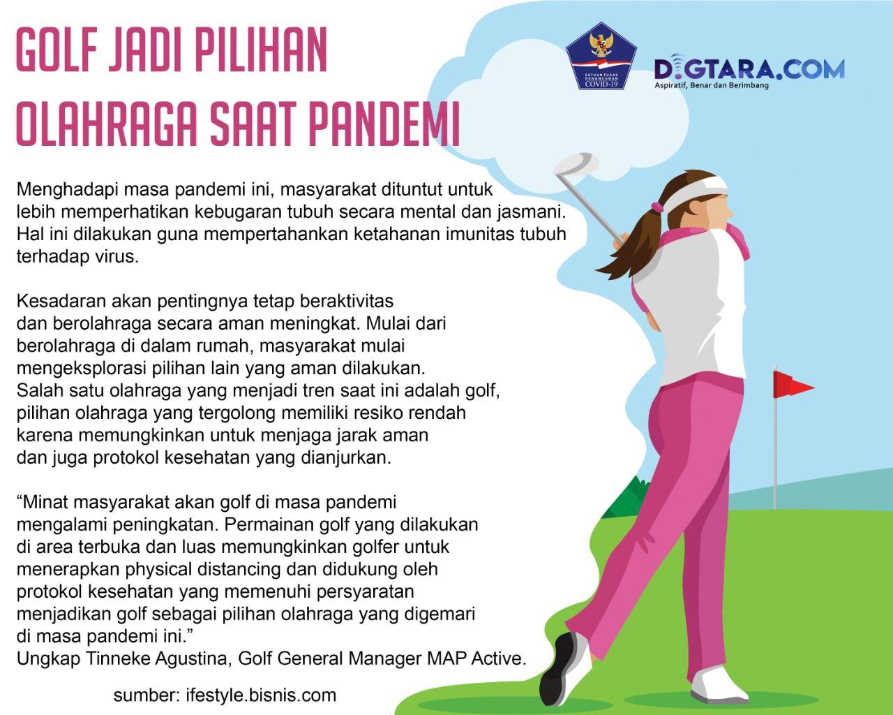 Infografis: Golf Jadi Pilihan Olahraga saat Pandemi