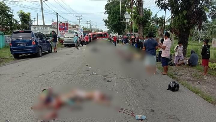 Kecelakaan Maut Terjadi di Simalungun, Lebih dari Empat Penumpang Tewas Mengenaskan