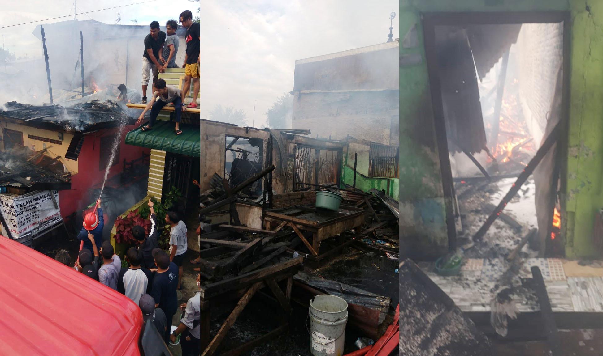 36 Unit Rumah dan 1 Mushalla di Belawan Hangus Terbakar