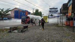 Truk Tangki Berisi Gas Elpiji Bocor, Arus Lalu Lintas Dialihkan