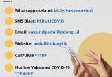 Penerima Vaksinasi Covid-19 Bisa Lakukan Registrasi via WA
