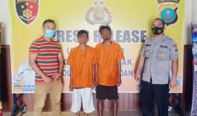 2 Sekawan Terciduk Mencuri Pipa Besi dan Seng Pabrik
