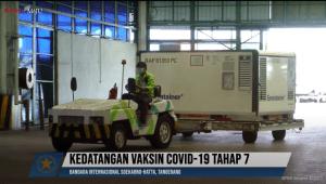 16 Juta Dosis Bahan Baku Vaksin Covid-19 Tiba di Bandara Soekarno-Hatta
