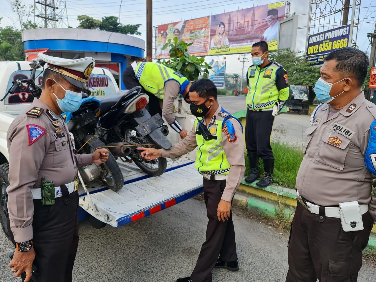 Hari ke 5 Ramadan, Polres Sergai Kembali Amankan Puluhan Kendaraan di Asmara Subuh