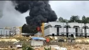 Kebakaran di PT.SMGP Panas Bumi Mandailing Natal, Warga Berhamburan