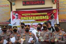 Polres Batubara Lakukan Operasi Premanisme, 104 Orang Terjaring