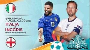 Ini Link Live Streaming Pertandingan Final Euro 2020 Italia vs Inggris