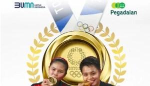 Wow! Peraih Medali di Olimpiade Tokyo 2020 Dihadiahi Emas 3 Kg sama PT Pegadaian