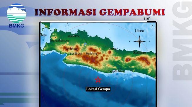 Gempa Bumi Guncang Tasikmalaya Magnitudo 4.4