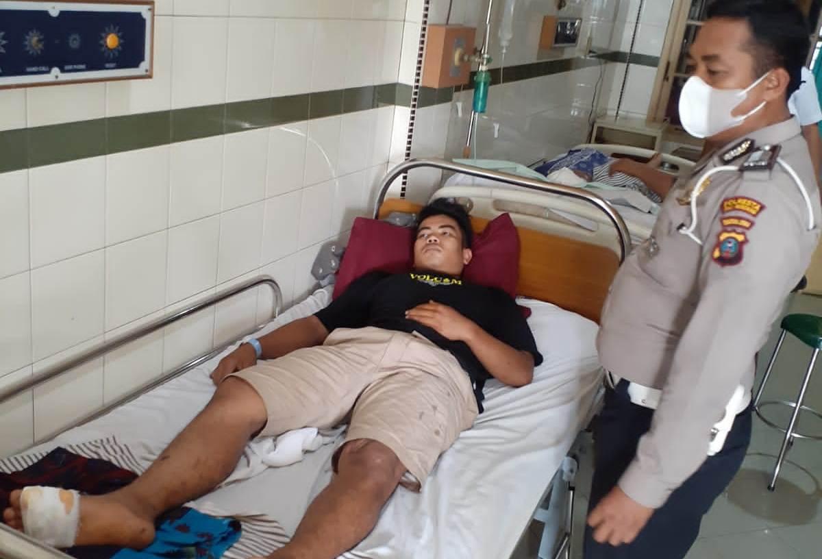 Dua Sepeda Motor Terlibat Kecelakaan, Warga Deliserdang Dirawat di RSU Sembiring