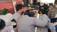 Tinggalkan Mapolsek Percut Sei Tuan, Tangis AKP Janpiter Napitupulu Pecah