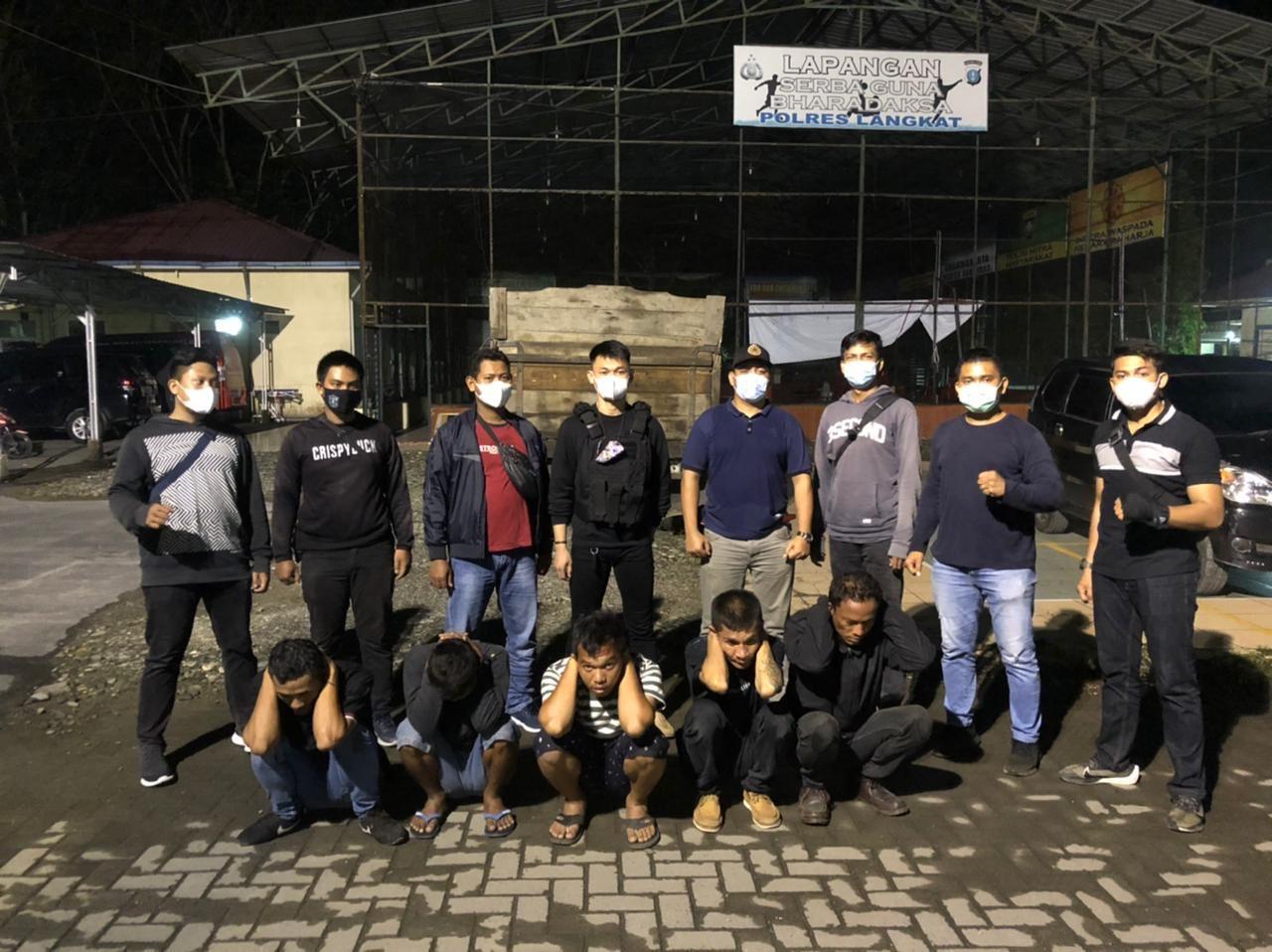 Lakukan Pungli di Jalinsum Medan-Banda Aceh, Lima Pria di Langkat Diringkus Polisi