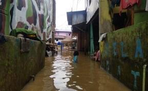 Rumah Warga Kampung Aur Kembali Terendam Banjir Sungai Deli