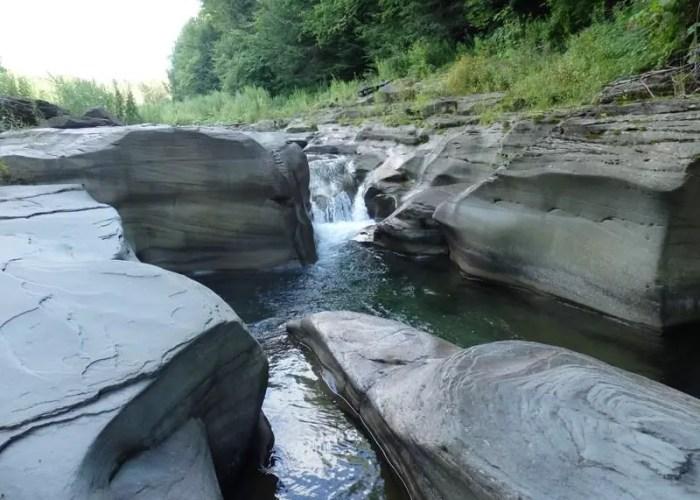 Barkaboom Stream falls on, Delaware County, Ny 8-10-2014