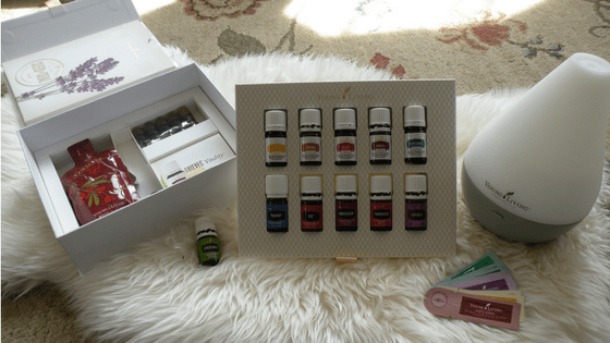 opening my young living essential oils starter kit