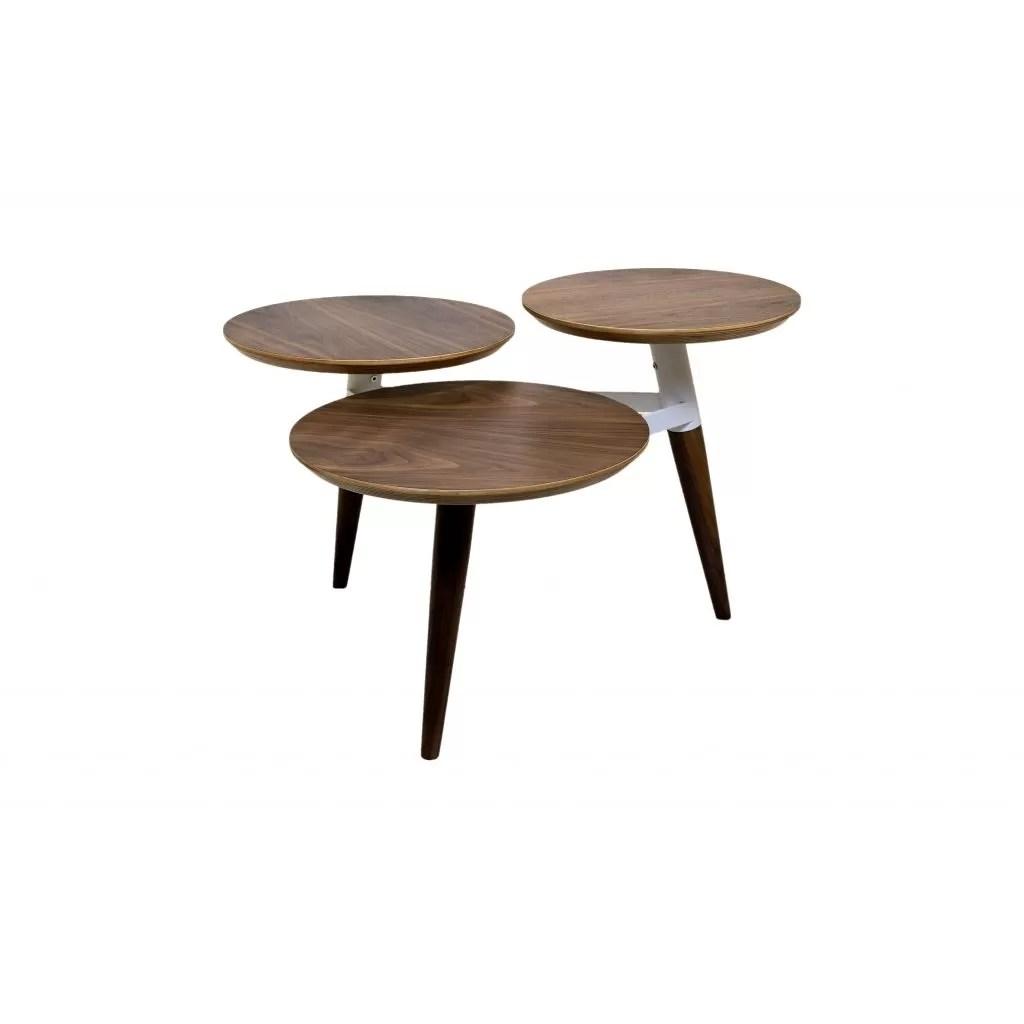 Clover houten tafel met drie ronde trays  kwaliteit