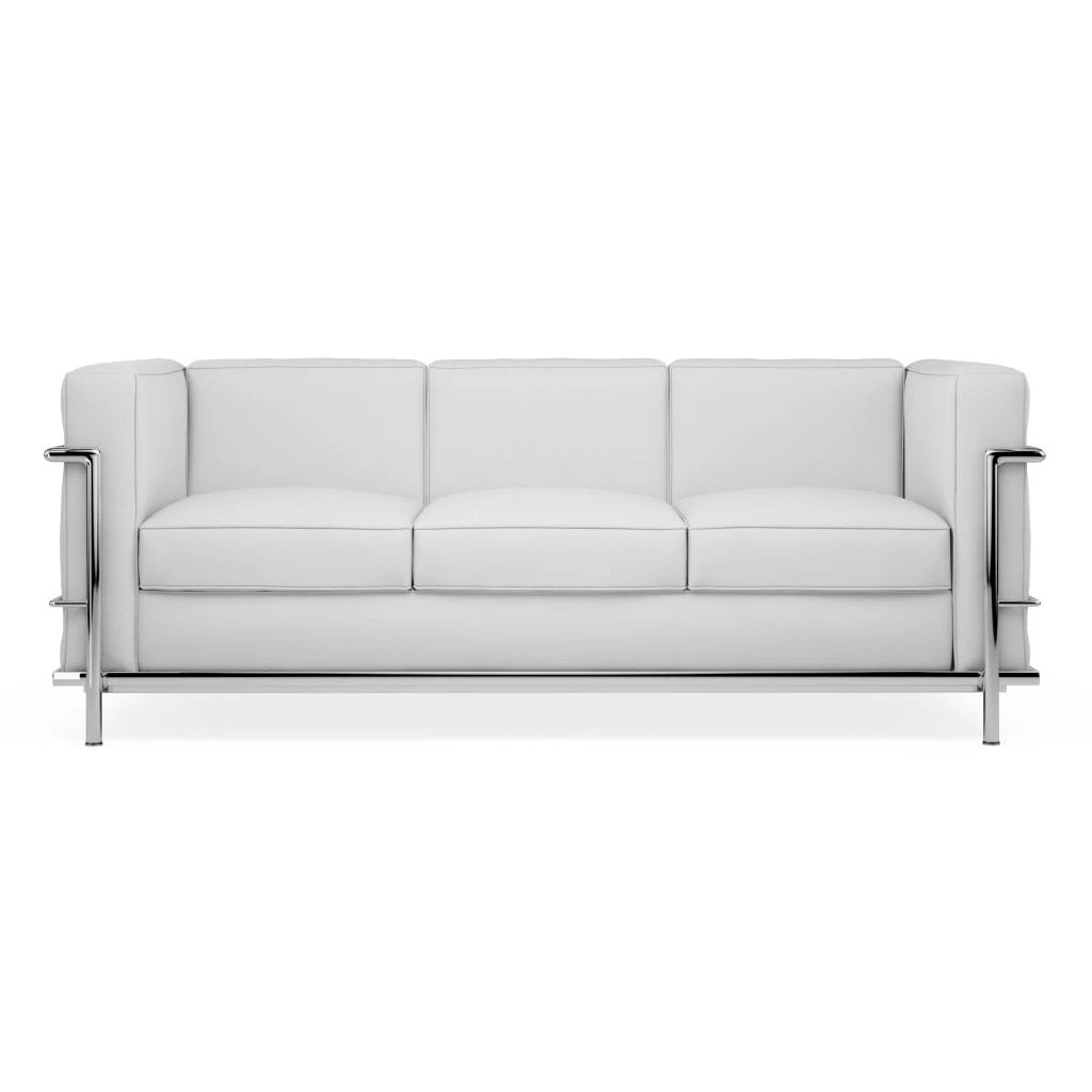 drummond grand leather sofa upholster lc2 le corbusier 3 seater replica diiiz