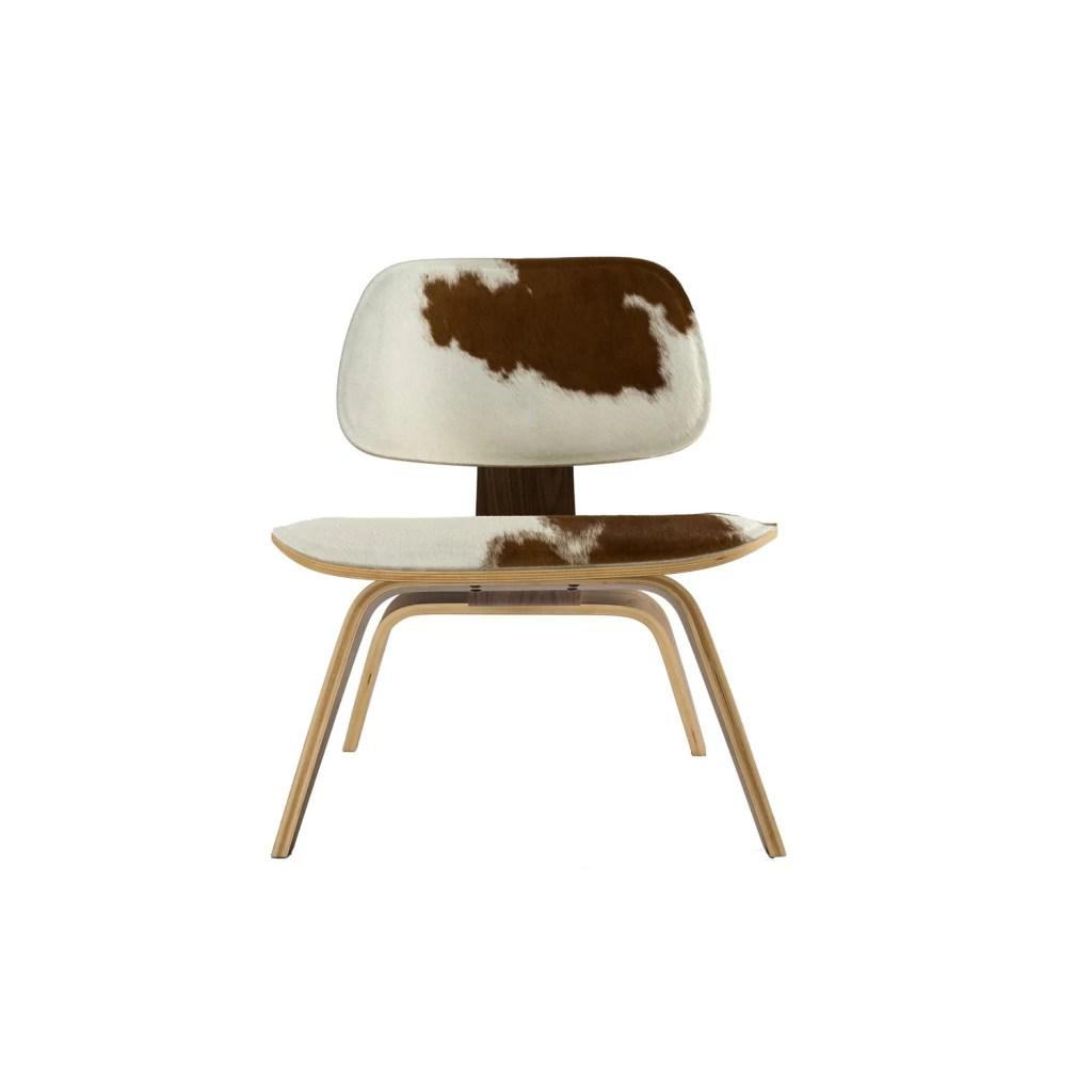 eames lcw chair white egg cowhide replica charles