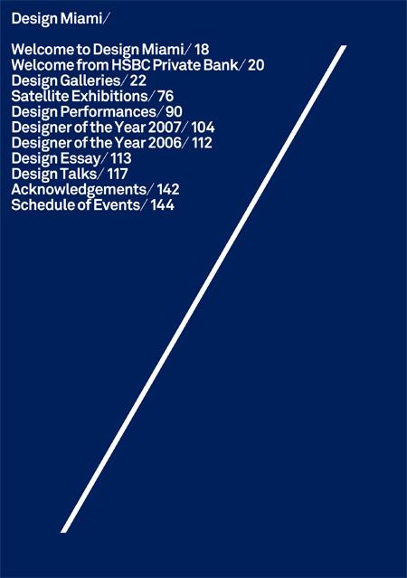 Catalogue Design Miami 2007