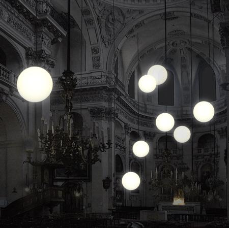 Robert Stadler installation lumineuse église Saint Paul Paris nuit blanche 2007