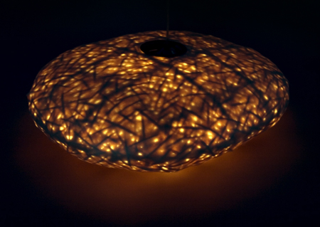 COCOON lampe bambou et soie Yii Taiwan