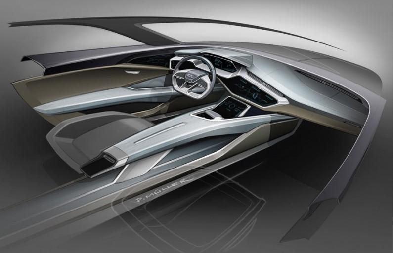 Audi e-tron quattro concept – Cockpit Sketch